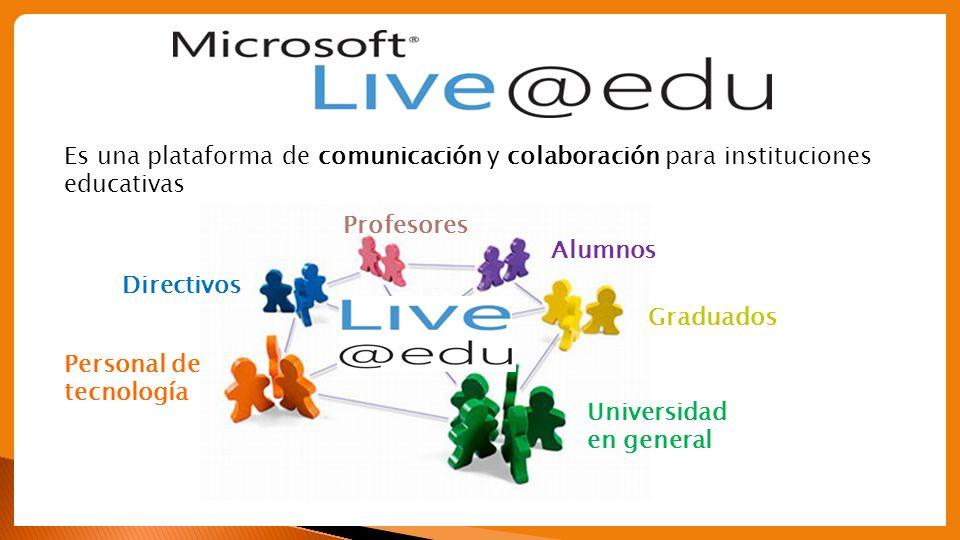 Es una plataforma de comunicación y colaboración para instituciones educativas