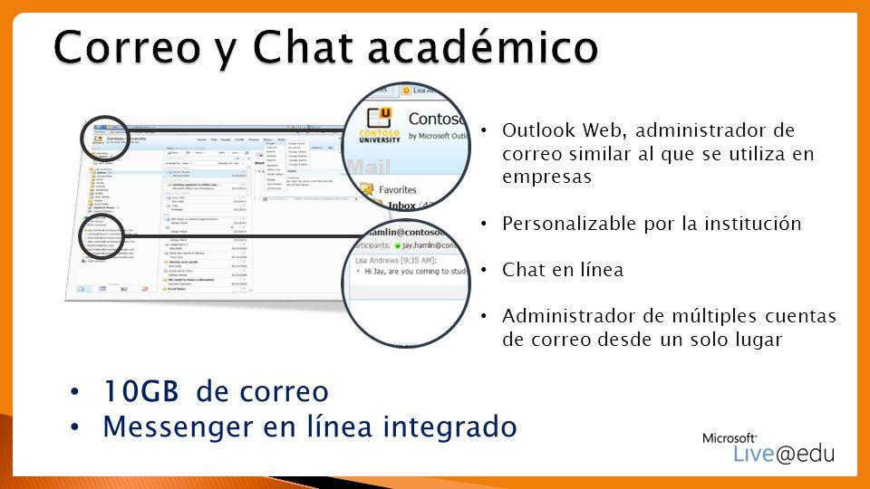 Correo y Chat académico