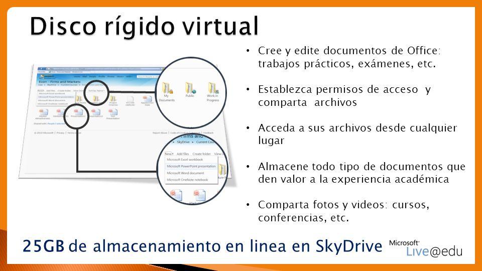 25GB de almacenamiento en linea en SkyDrive
