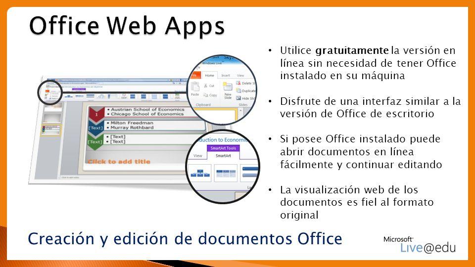 Creación y edición de documentos Office