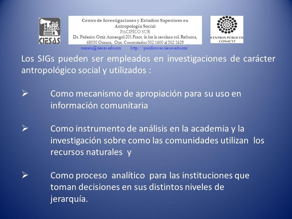 Como mecanismo de apropiación para su uso en información comunitaria