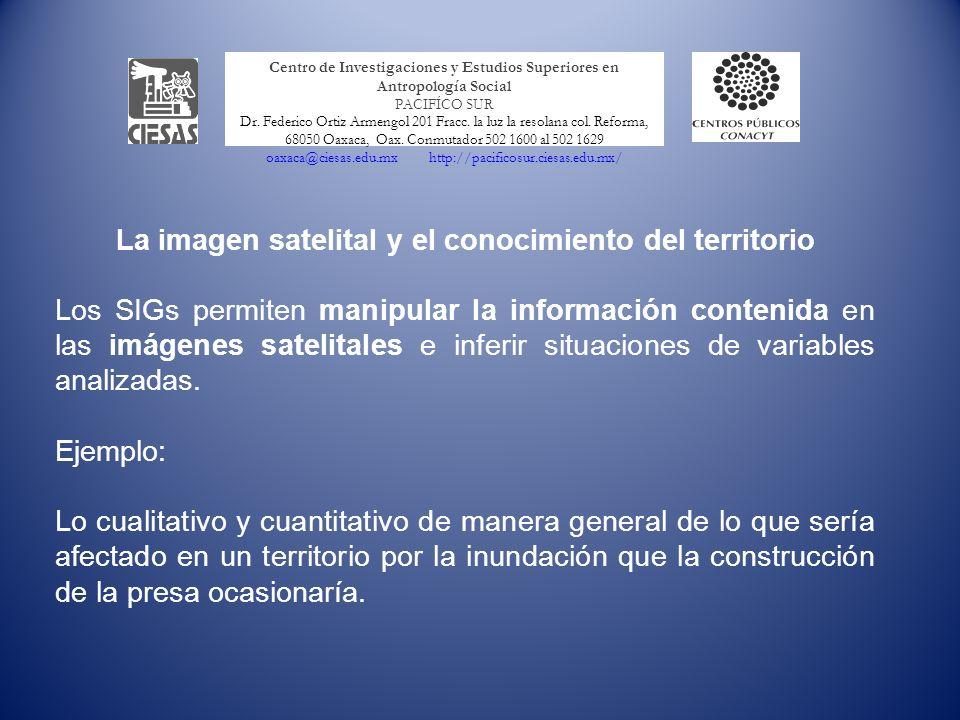 La imagen satelital y el conocimiento del territorio