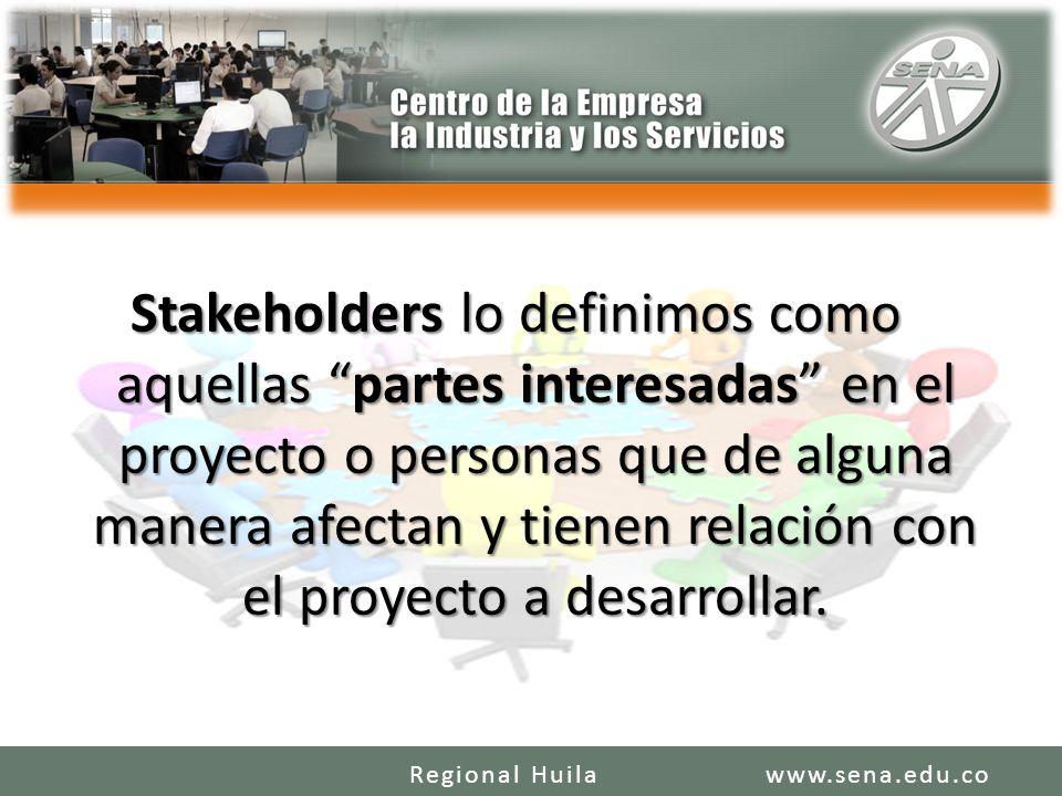 Stakeholders lo definimos como aquellas partes interesadas en el proyecto o personas que de alguna manera afectan y tienen relación con el proyecto a desarrollar.