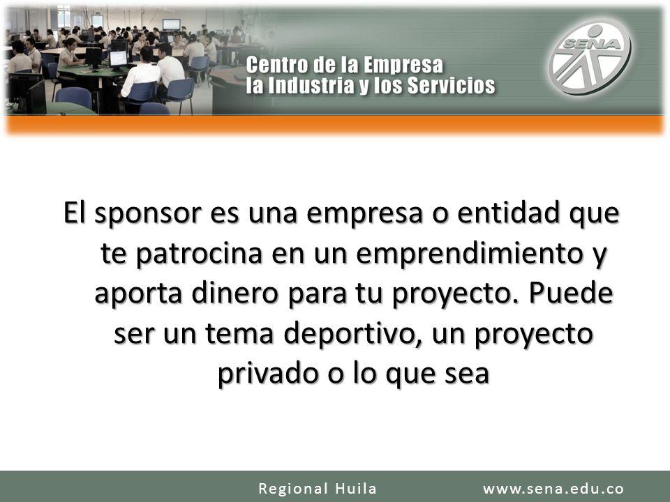 El sponsor es una empresa o entidad que te patrocina en un emprendimiento y aporta dinero para tu proyecto. Puede ser un tema deportivo, un proyecto privado o lo que sea