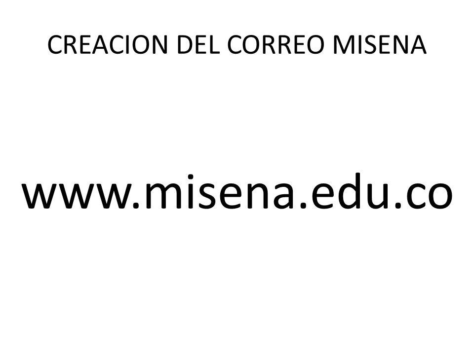 CREACION DEL CORREO MISENA