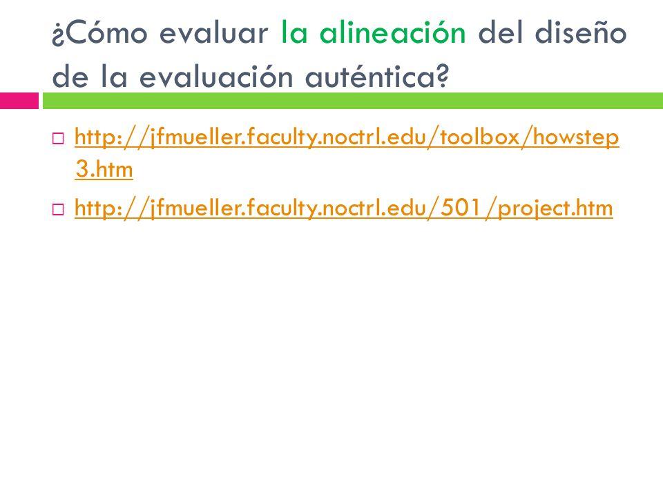 ¿Cómo evaluar la alineación del diseño de la evaluación auténtica