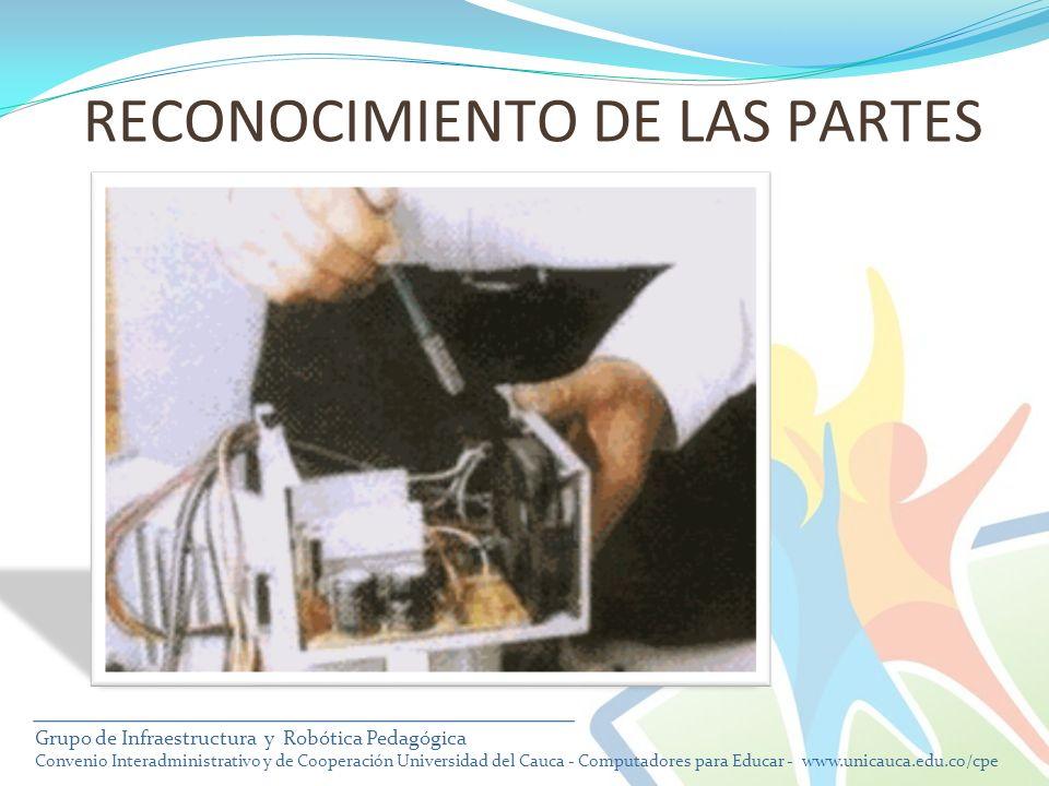 RECONOCIMIENTO DE LAS PARTES