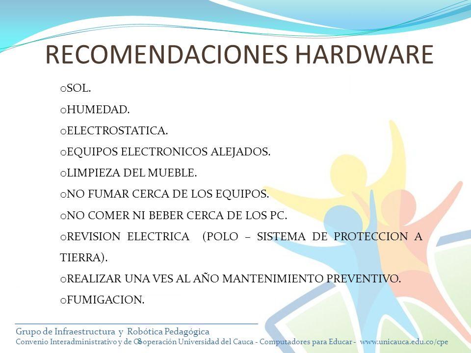 RECOMENDACIONES HARDWARE
