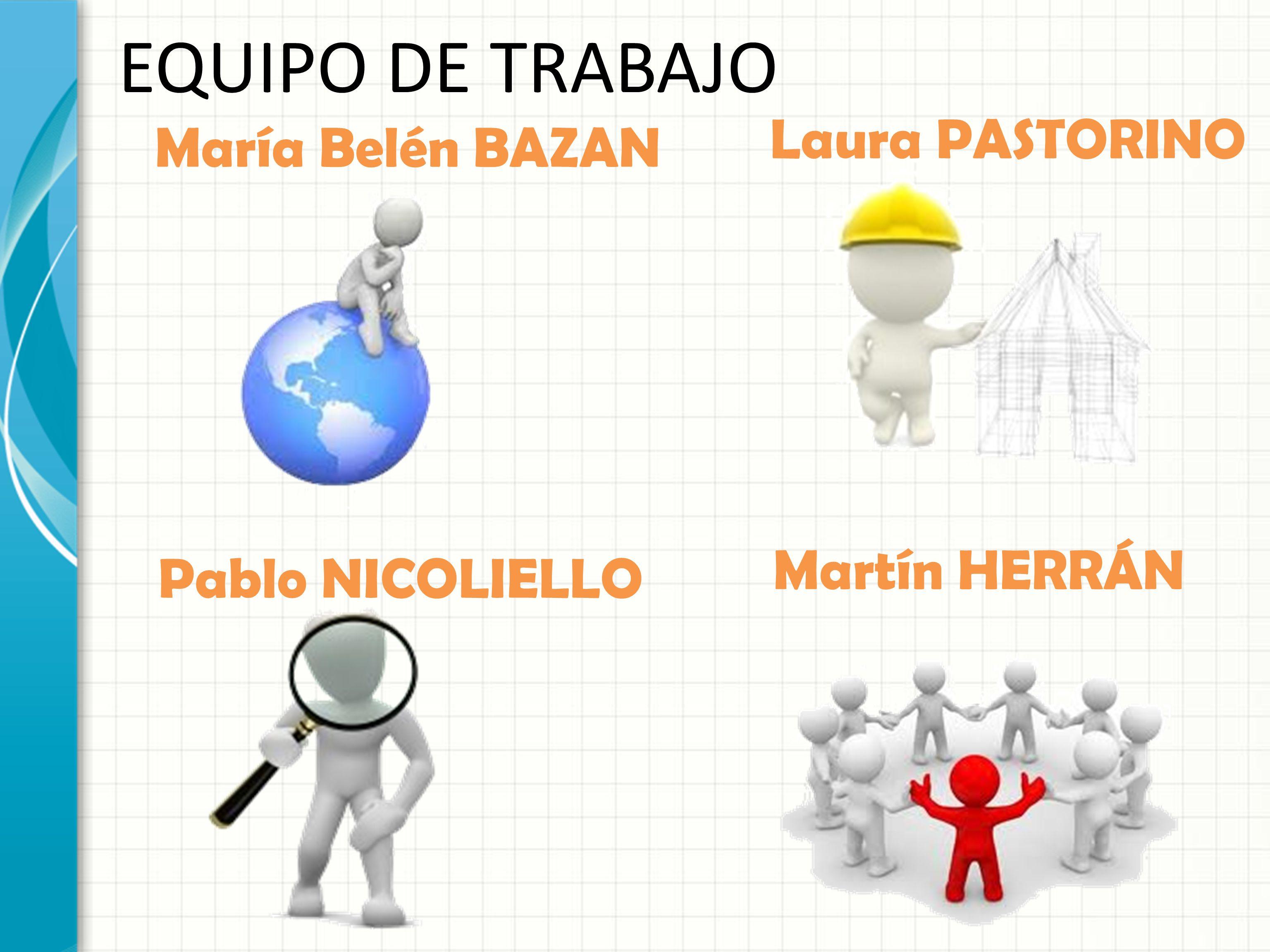EQUIPO DE TRABAJO Laura PASTORINO María Belén BAZAN Martín HERRÁN
