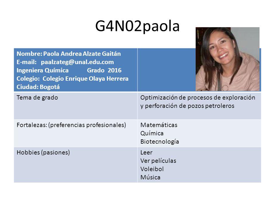 G4N02paola Nombre: Paola Andrea Alzate Gaitán