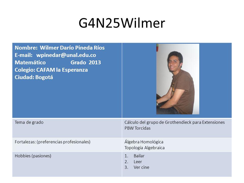 G4N25Wilmer Nombre: Wilmer Darío Pineda Ríos