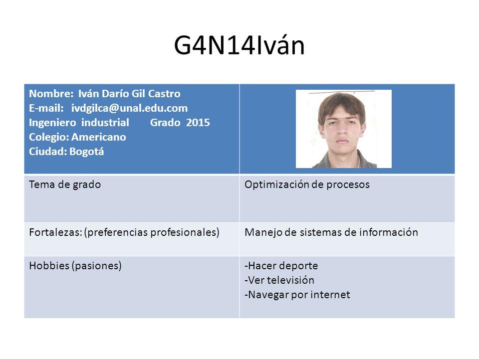 G4N14Iván Nombre: Iván Darío Gil Castro E-mail: ivdgilca@unal.edu.com