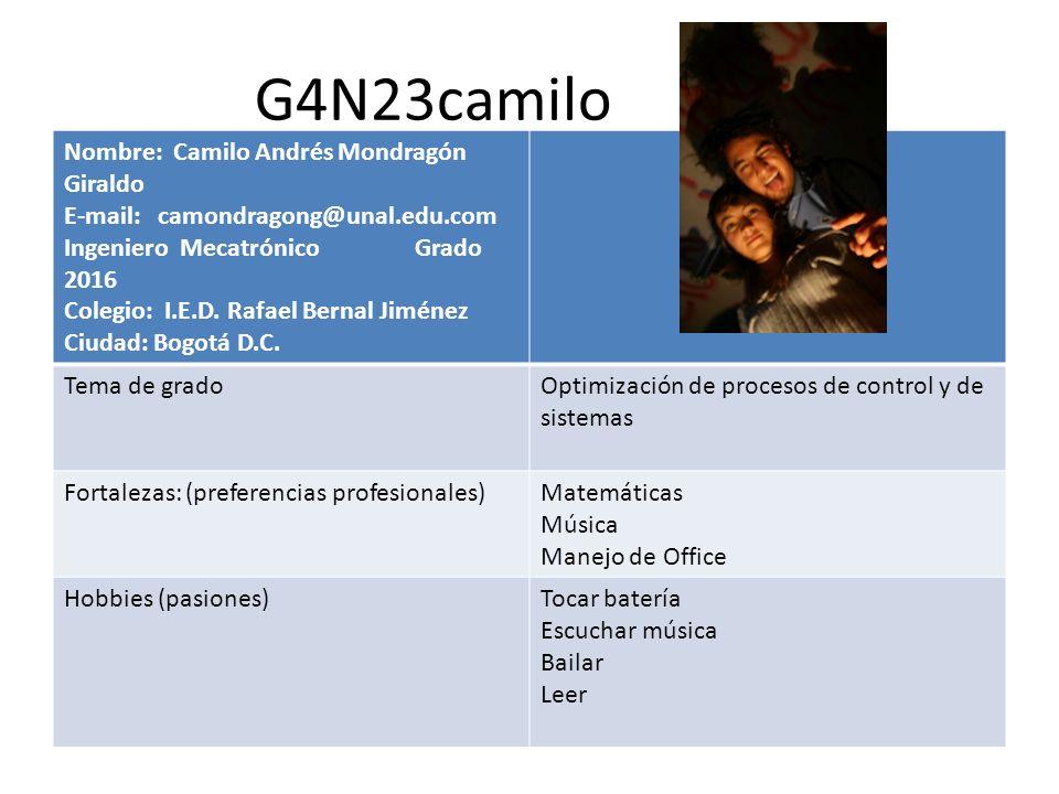 G4N23camilo Nombre: Camilo Andrés Mondragón Giraldo