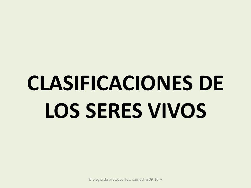 CLASIFICACIONES DE LOS SERES VIVOS