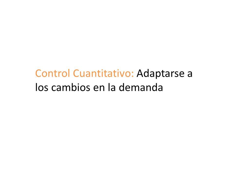 Control Cuantitativo: Adaptarse a los cambios en la demanda