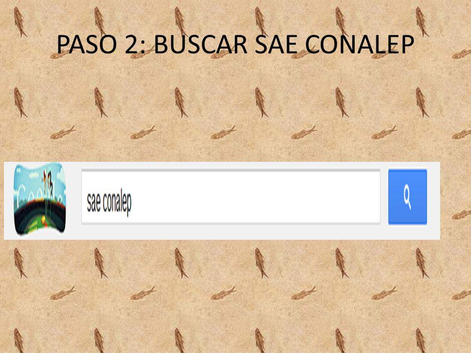 PASO 2: BUSCAR SAE CONALEP