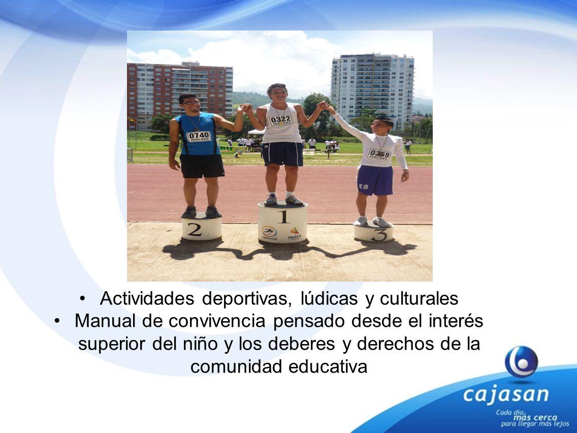 Actividades deportivas, lúdicas y culturales