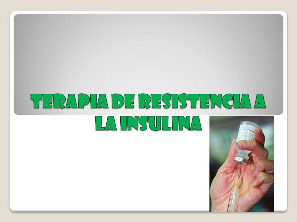 Terapia de resistencia a la insulina