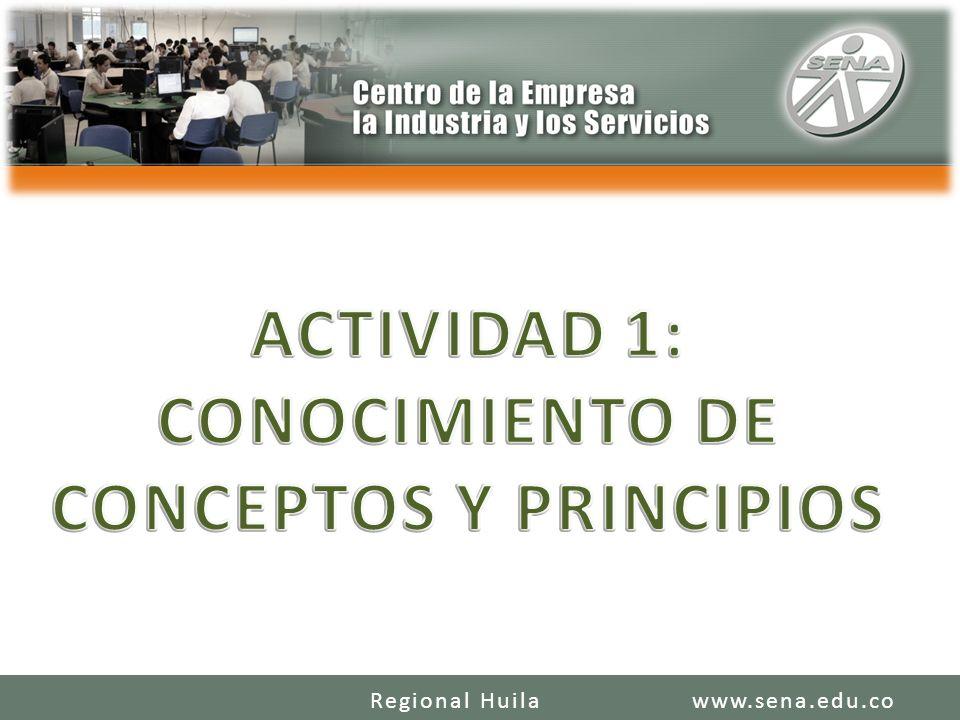 ACTIVIDAD 1: CONOCIMIENTO DE CONCEPTOS Y PRINCIPIOS