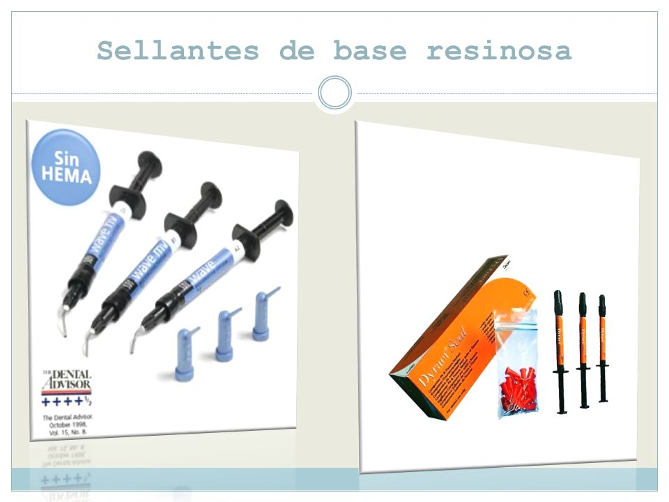 Sellantes de base resinosa