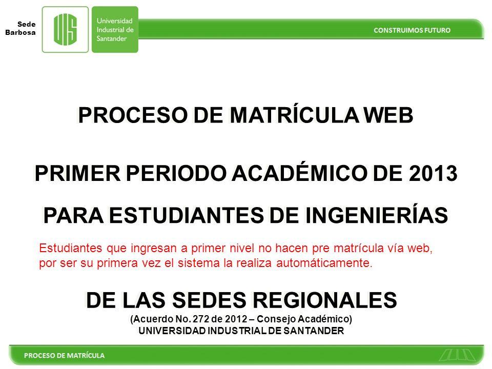 PROCESO DE MATRÍCULA WEB