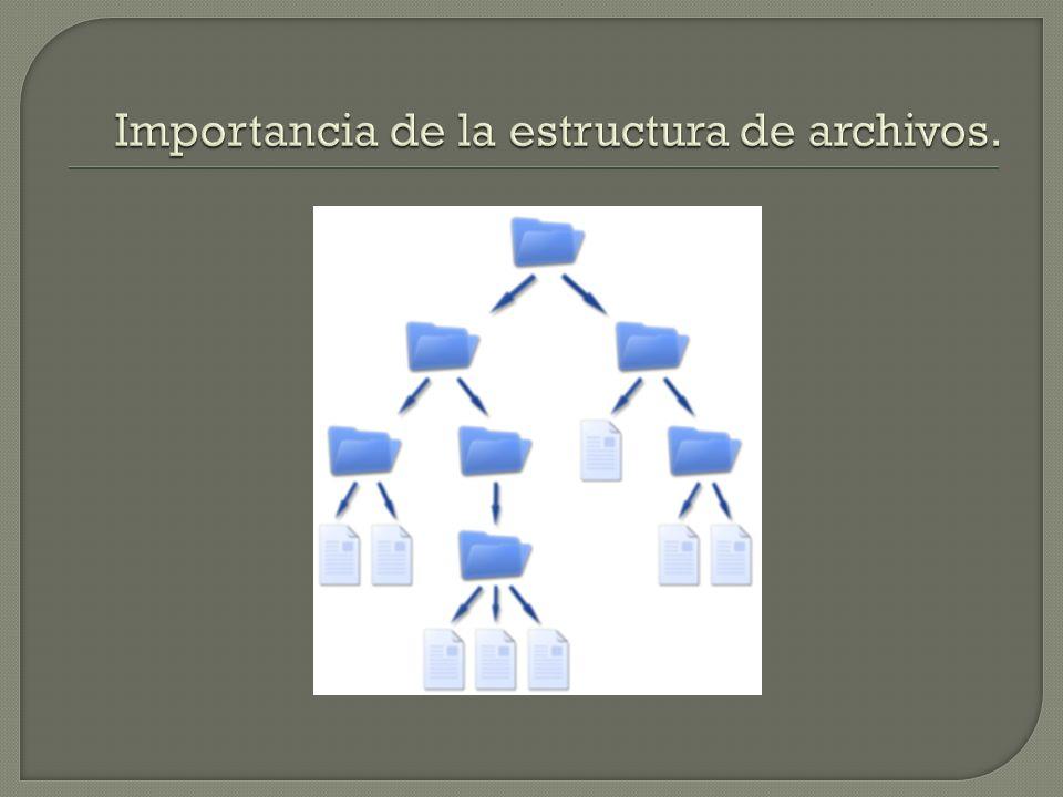 Importancia de la estructura de archivos.