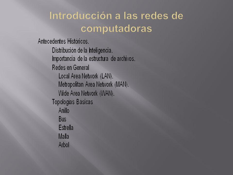 Introducción a las redes de computadoras