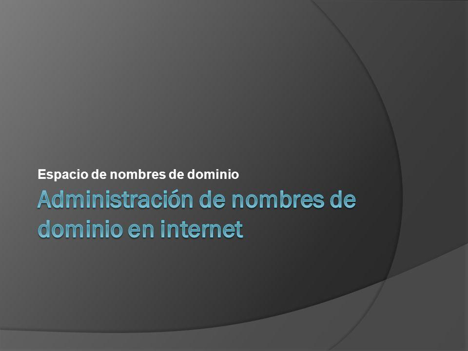 Administración de nombres de dominio en internet