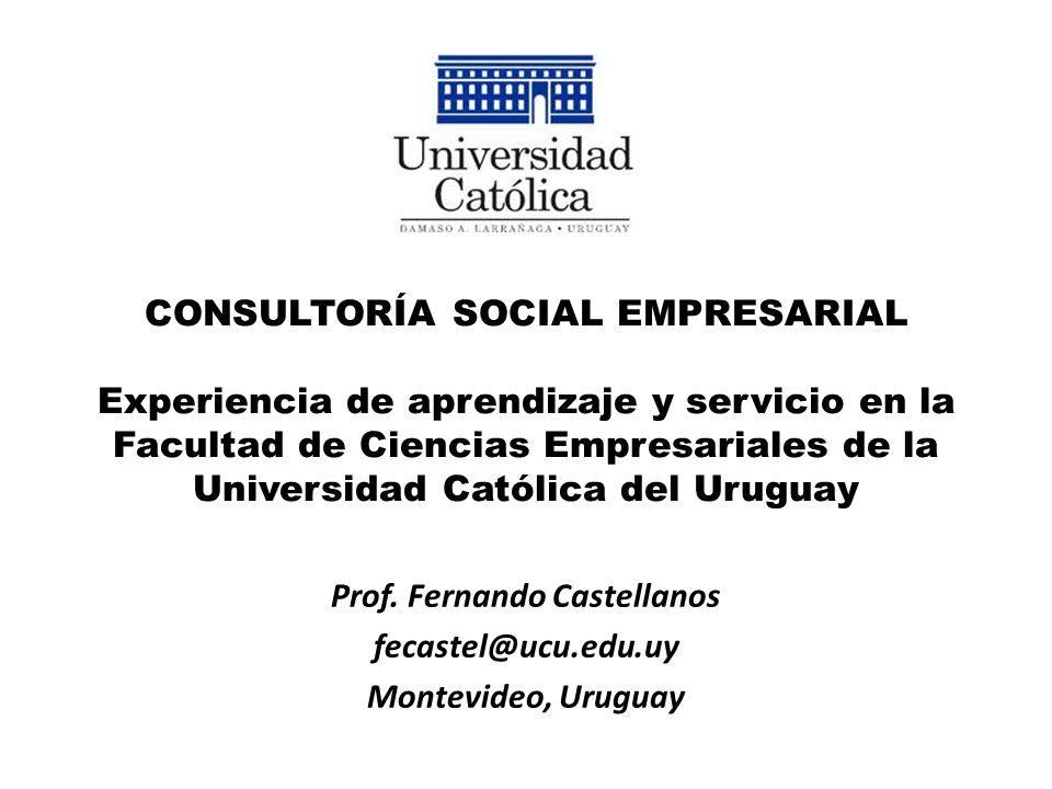 Prof. Fernando Castellanos fecastel@ucu.edu.uy Montevideo, Uruguay