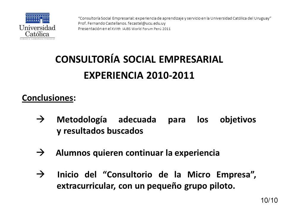 CONSULTORÍA SOCIAL EMPRESARIAL