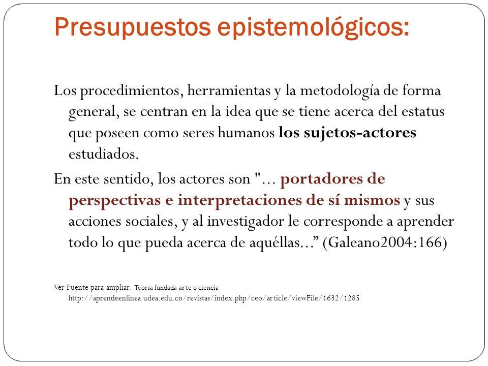 Presupuestos epistemológicos: