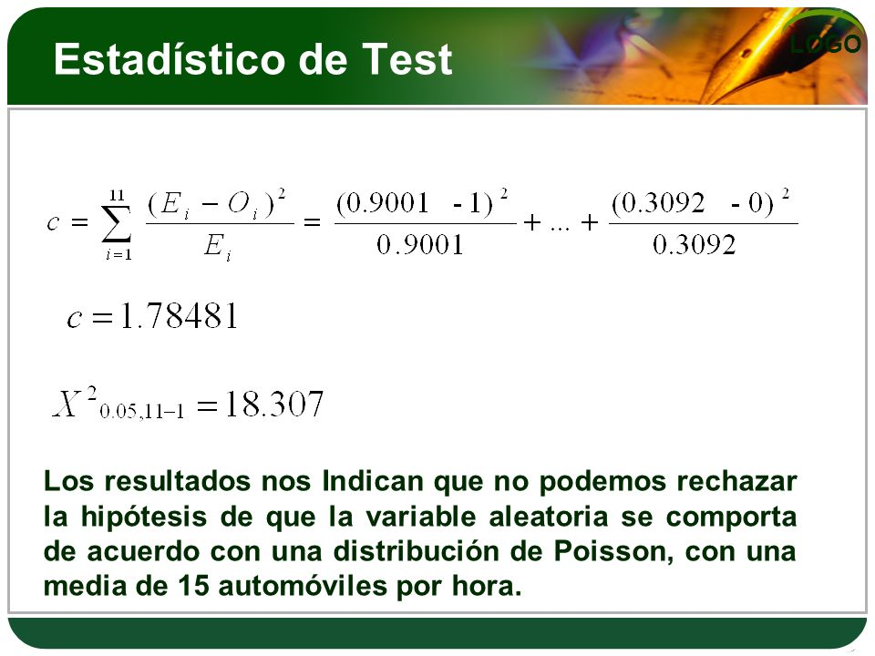 Estadístico de Test