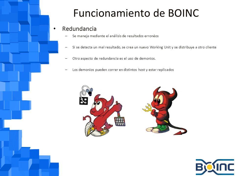 Funcionamiento de BOINC