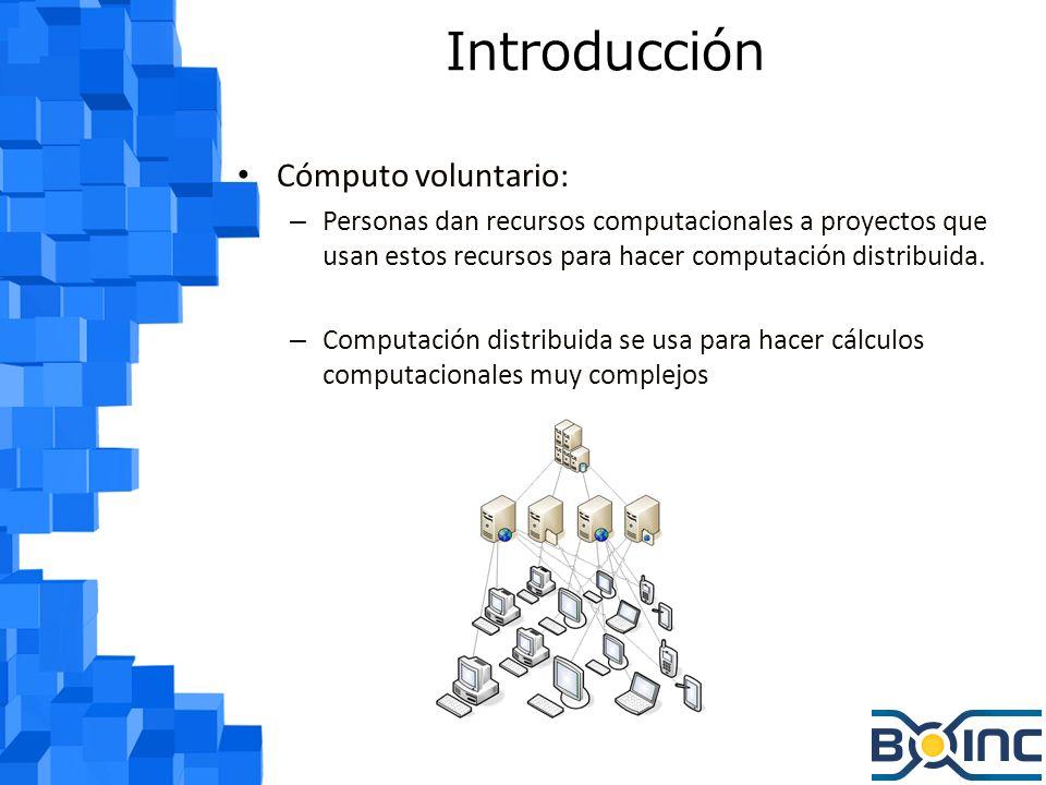 Introducción Cómputo voluntario: