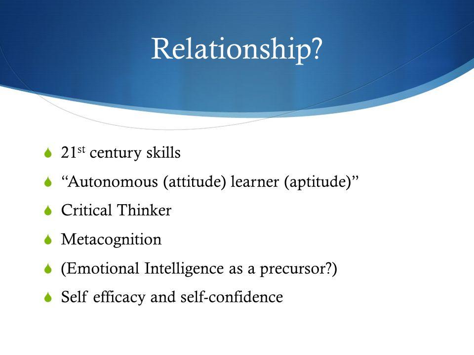 Relationship 21st century skills