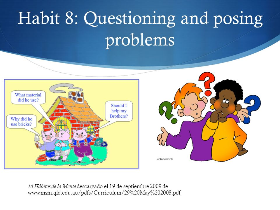 Habit 8: Questioning and posing problems