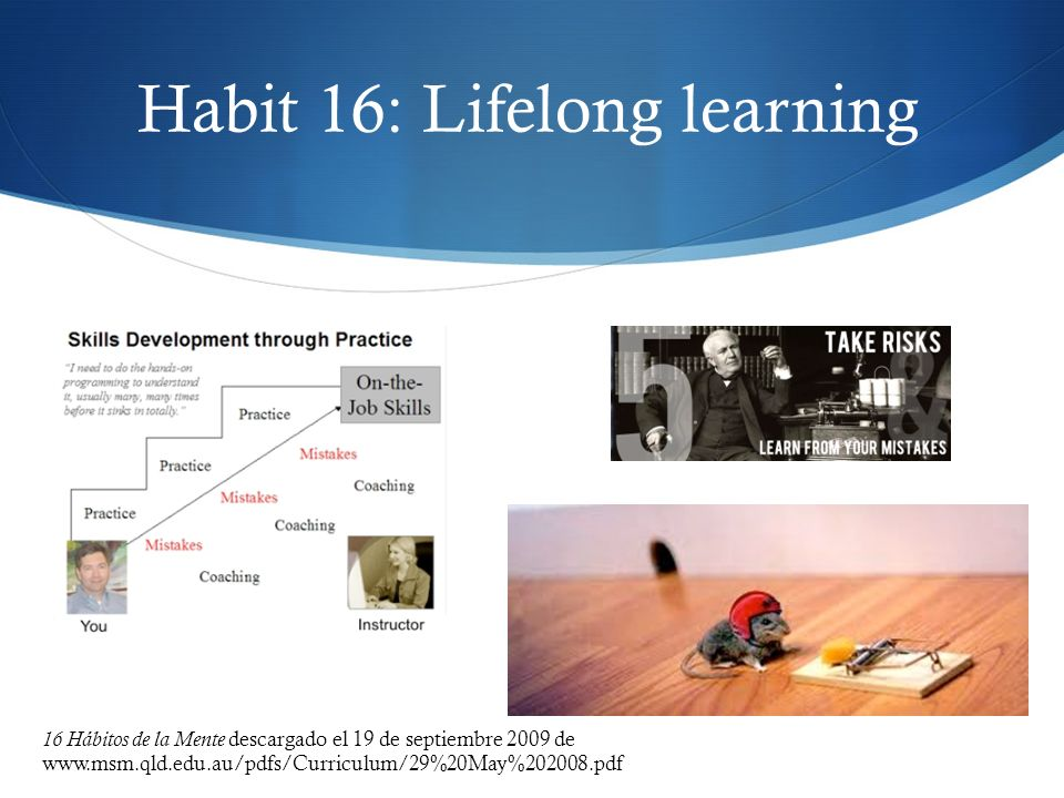 Habit 16: Lifelong learning