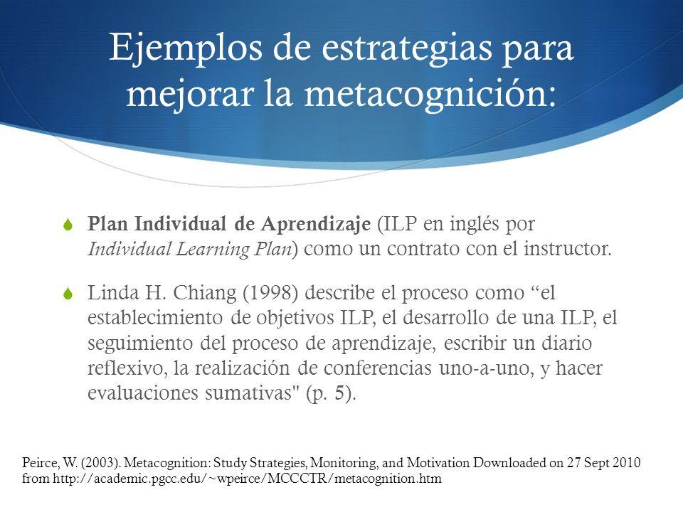 Ejemplos de estrategias para mejorar la metacognición: