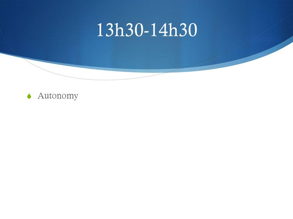 13h30-14h30 Autonomy