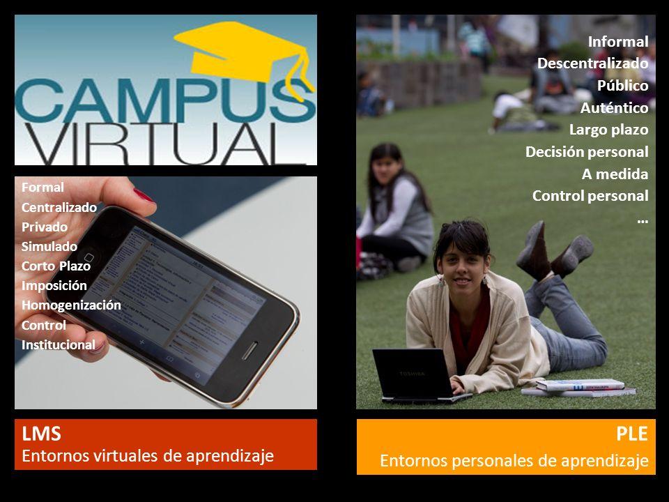 LMS Entornos virtuales de aprendizaje PLE
