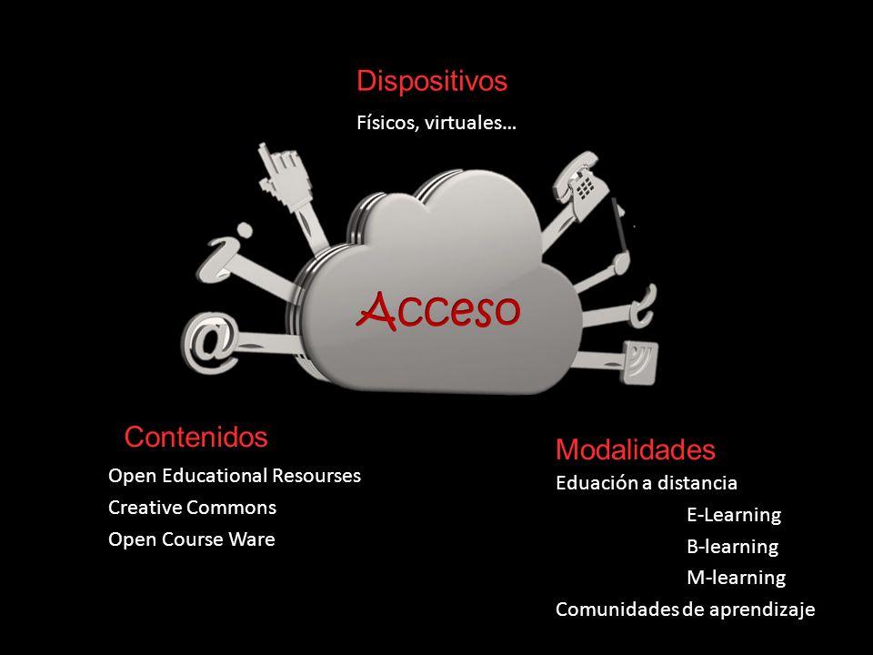 Acceso Dispositivos Contenidos Modalidades Físicos, virtuales…