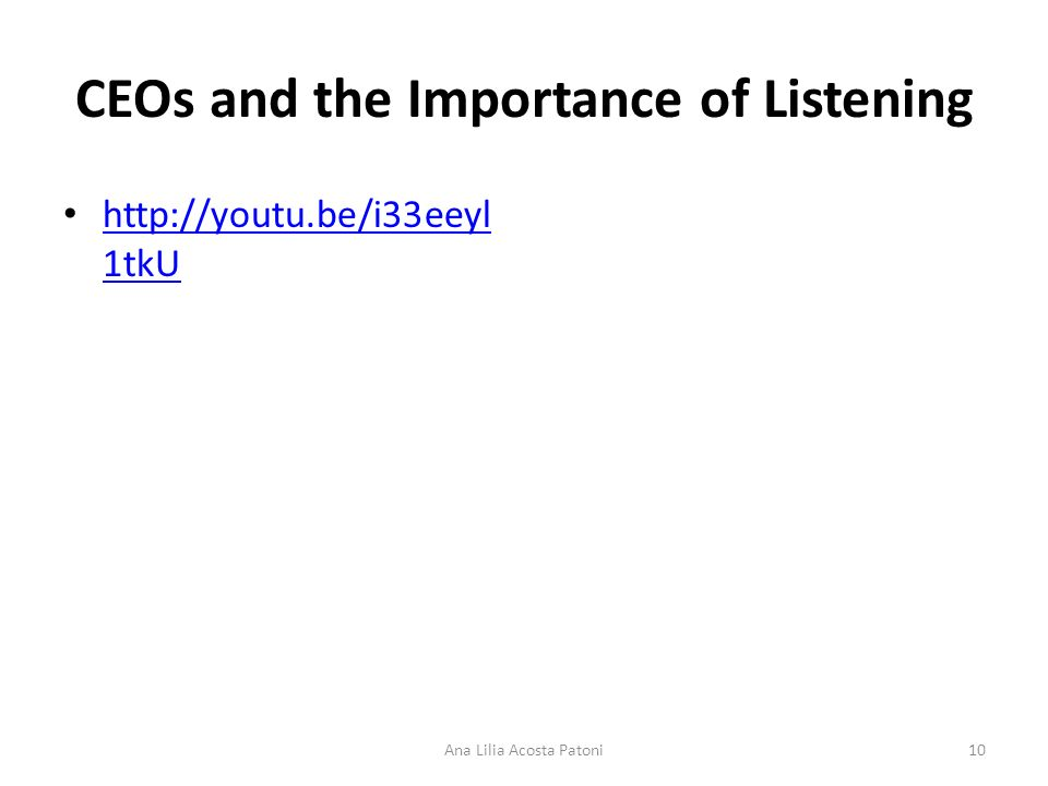 CEOs and the Importance of Listening