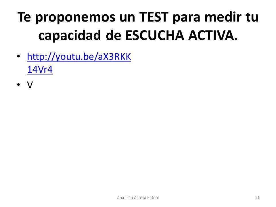 Te proponemos un TEST para medir tu capacidad de ESCUCHA ACTIVA.