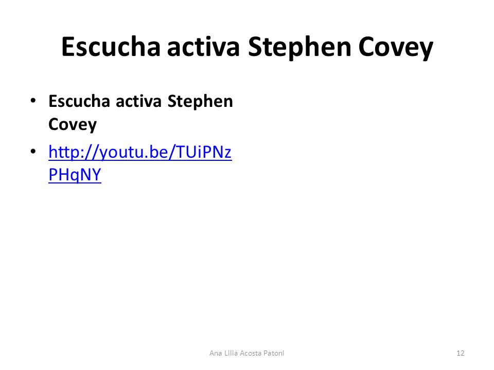 Escucha activa Stephen Covey