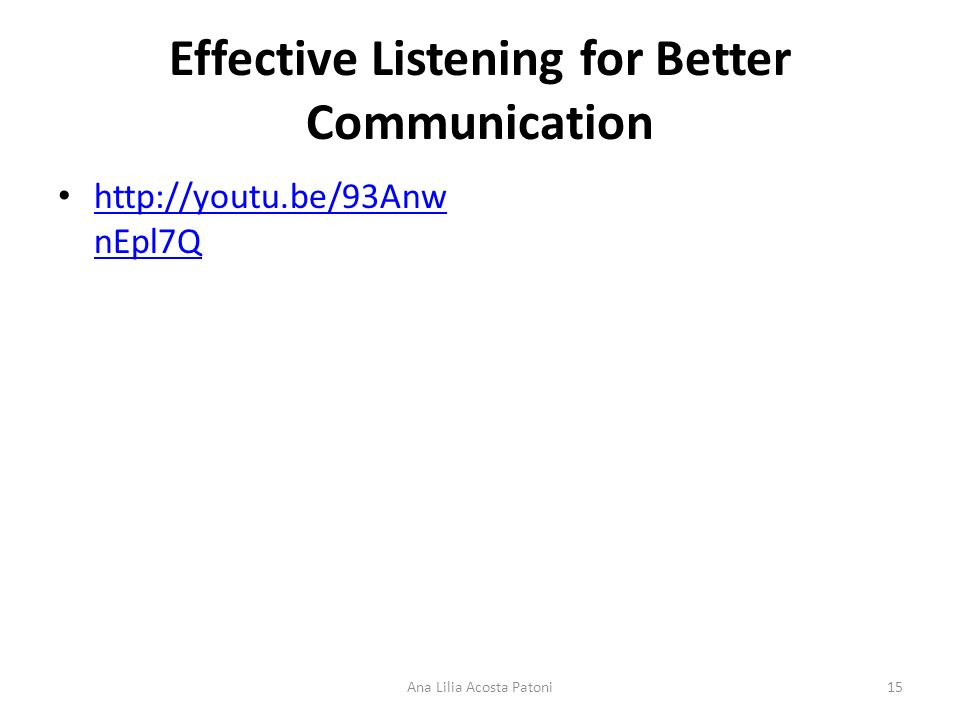 Effective Listening for Better Communication