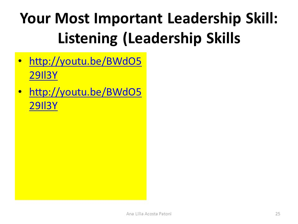 Your Most Important Leadership Skill: Listening (Leadership Skills