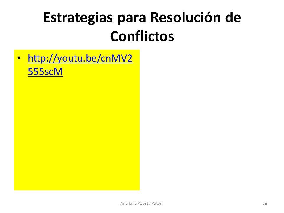 Estrategias para Resolución de Conflictos