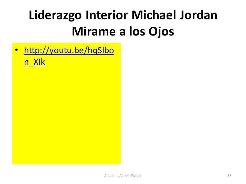 Liderazgo Interior Michael Jordan Mirame a los Ojos