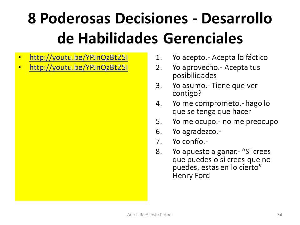 8 Poderosas Decisiones - Desarrollo de Habilidades Gerenciales