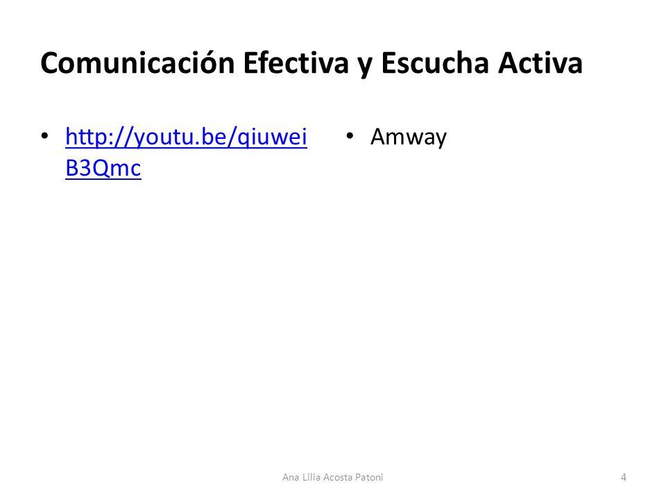 Comunicación Efectiva y Escucha Activa